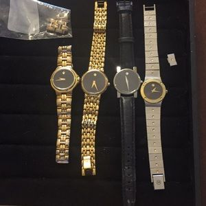 4 authentic Movado watches need batteries firm pr